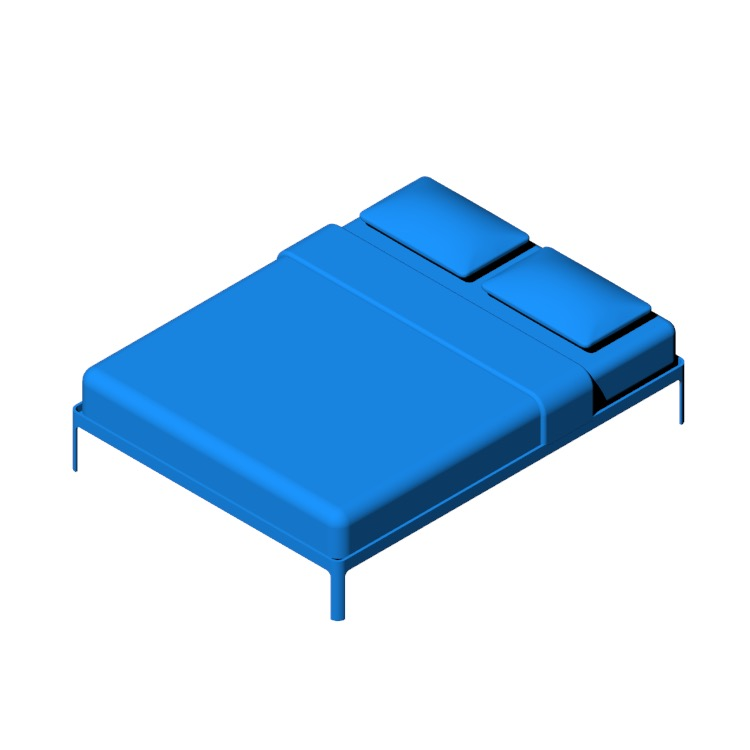 View of the Min Bed in 3D available for download