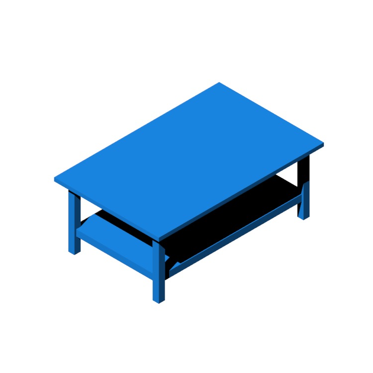 View of the IKEA Hemnes Coffee Table (Rectangle) in 3D available for download