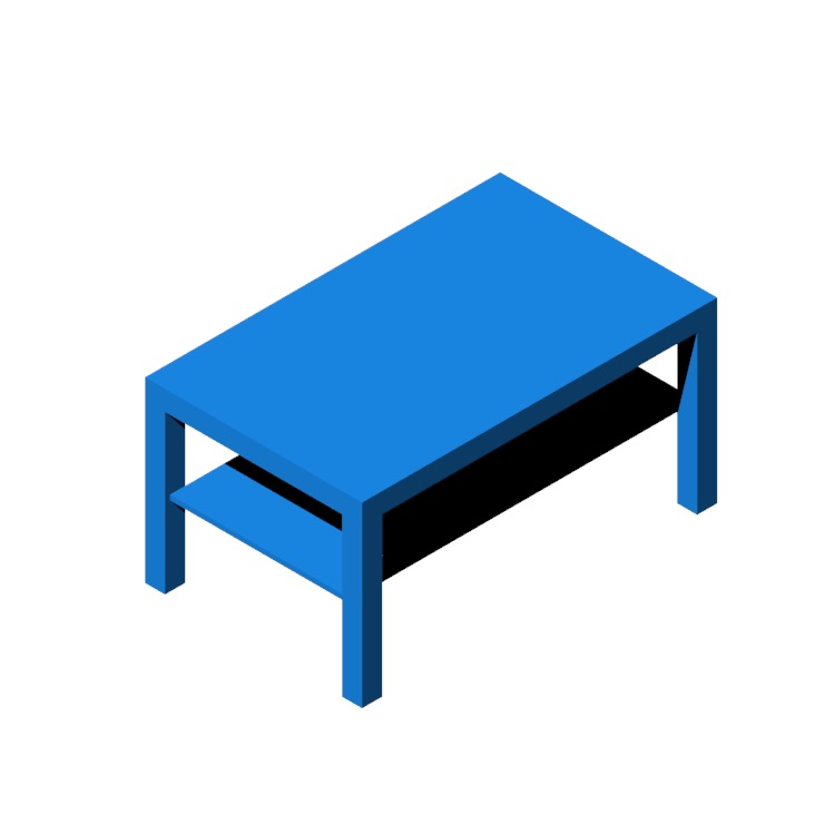 View of the IKEA Lack Coffee Table in 3D available for download