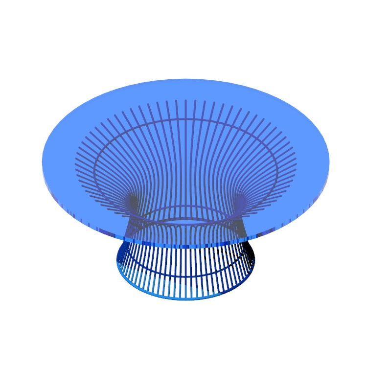 View of the Platner Coffee Table in 3D available for download