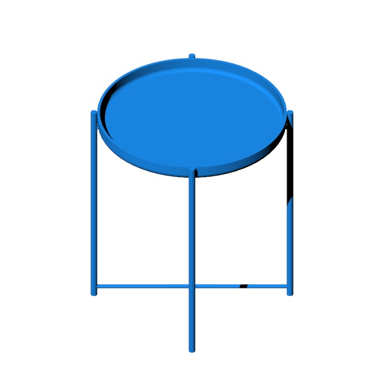 View of the IKEA Gladom Tray Table in 3D available for download