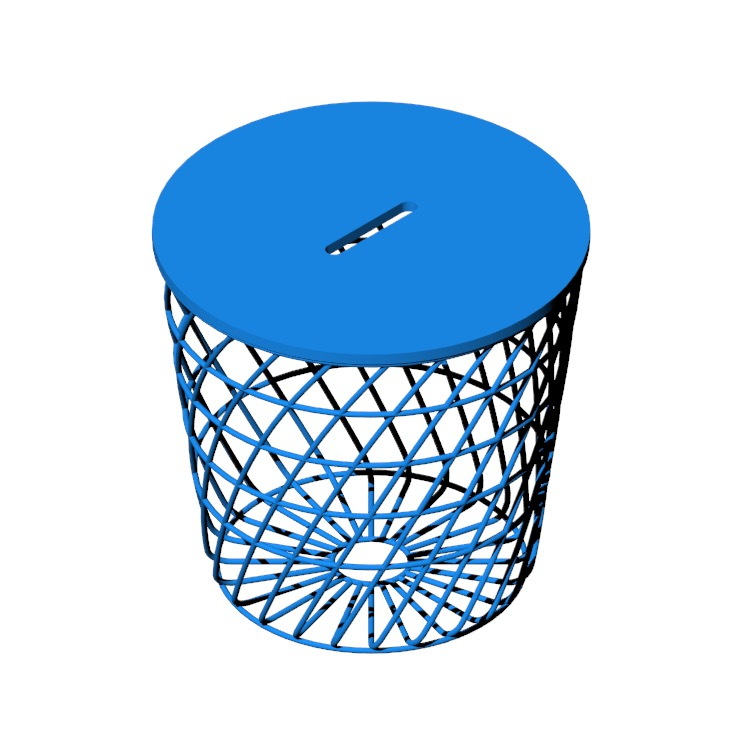 3D model of the IKEA Kvistbro Side Table viewed in perspective