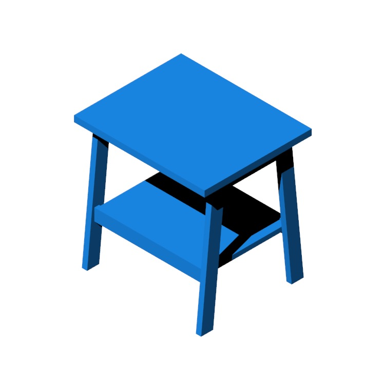 Perspective view of a 3D model of the IKEA Lunnarp Side Table
