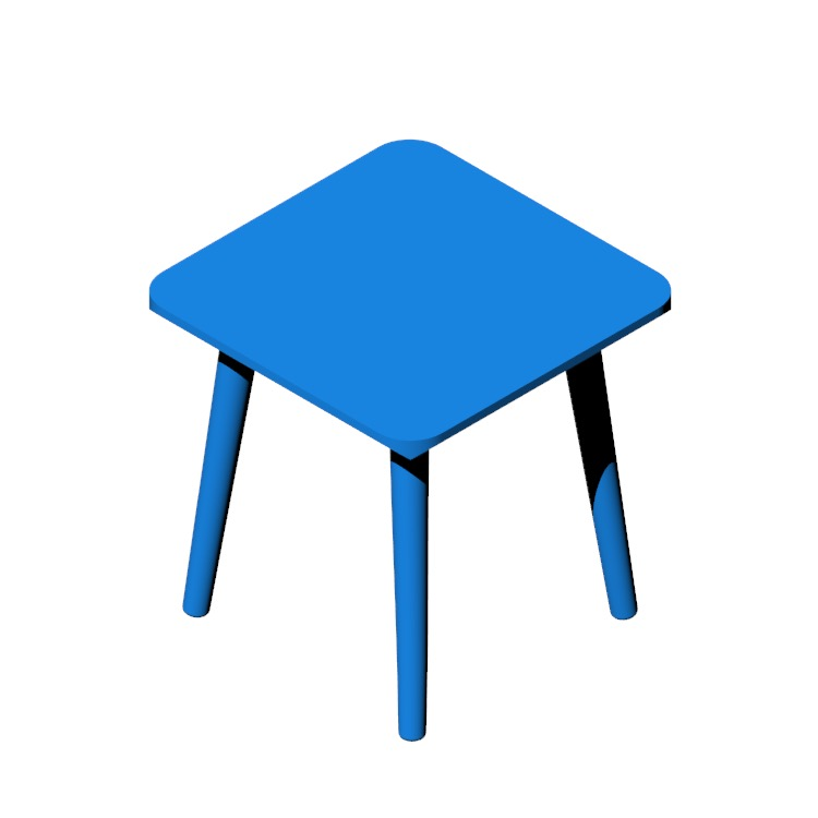 View of the IKEA Lisabo Side Table in 3D available for download