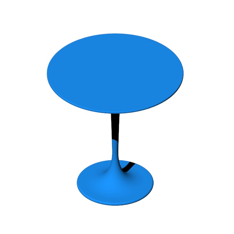 View of the Saarinen Side Table in 3D available for download