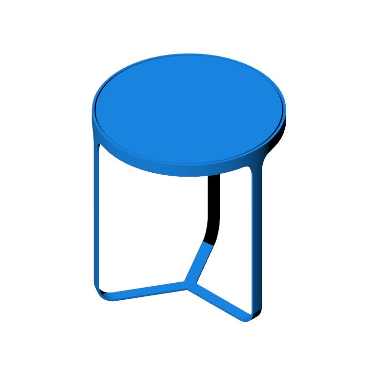 3D model of the Cage Side Table viewed in perspective