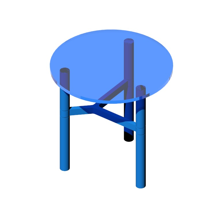 View of the Helix Side Table in 3D available for download