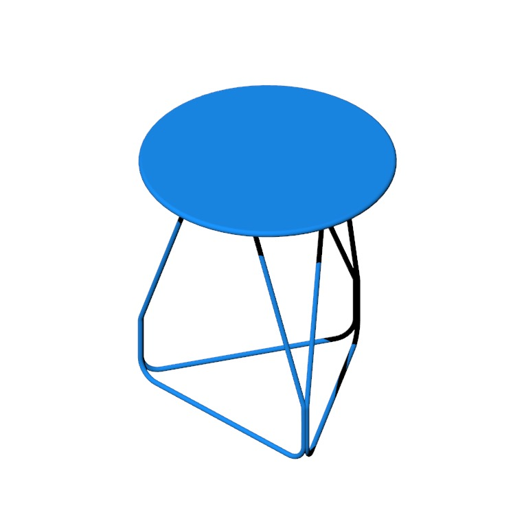 View of the Polygon Wire Table, Small in 3D available for download
