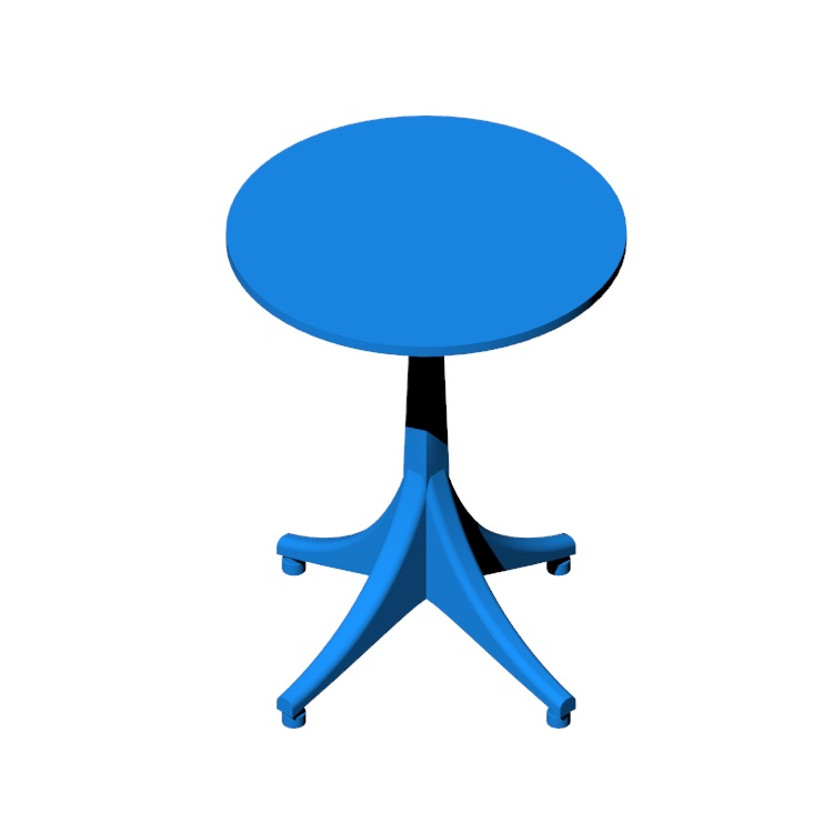 Perspective view of a 3D model of the Nelson Pedestal Side Table