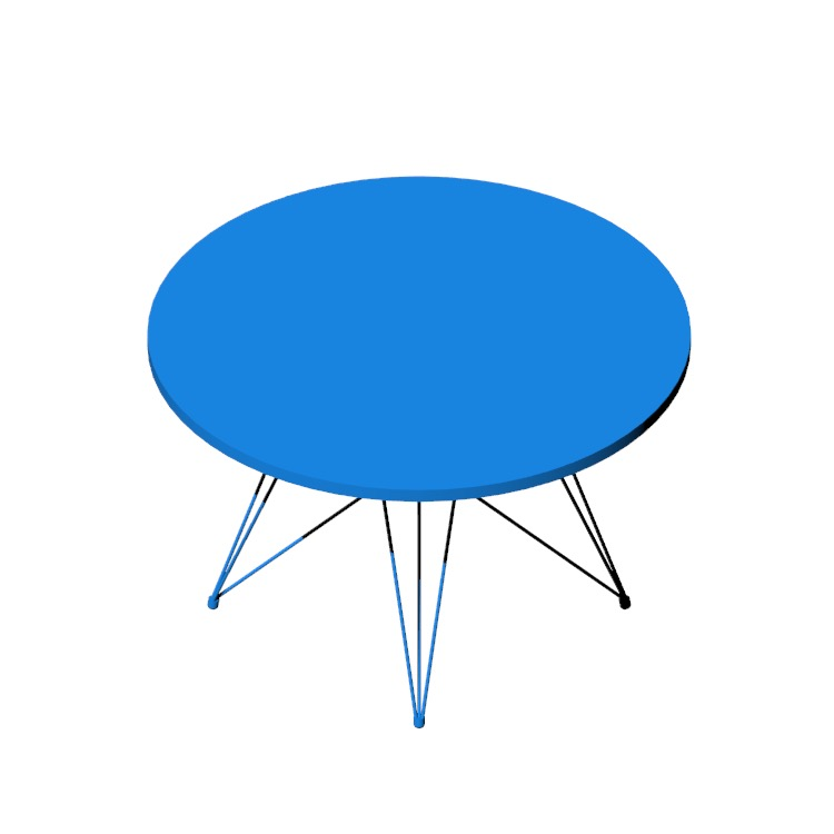 View of the Tavolo XZ3 Table in 3D available for download