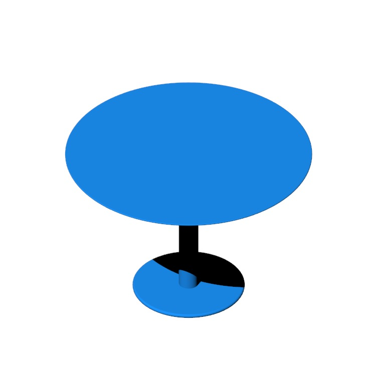 Perspective view of a 3D model of the Zero Table