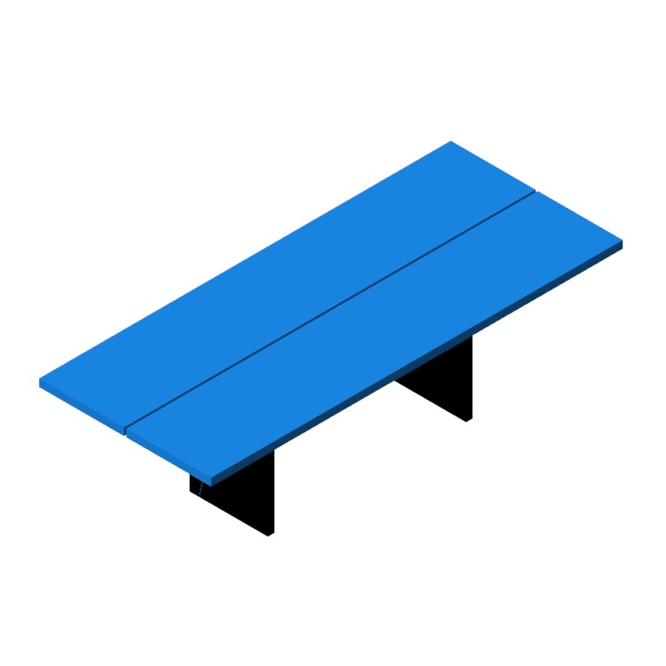 Perspective view of a 3D model of the Gather Table