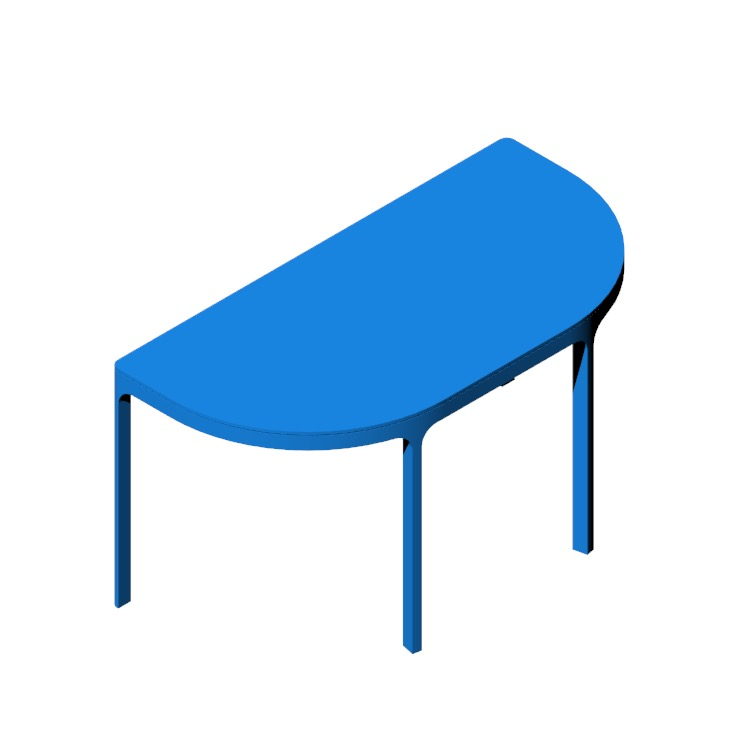 View of the IKEA Bekant Conference Table (Round End) in 3D available for download