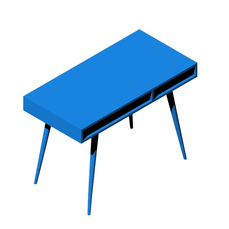 3D model of the Celine Desk viewed in perspective