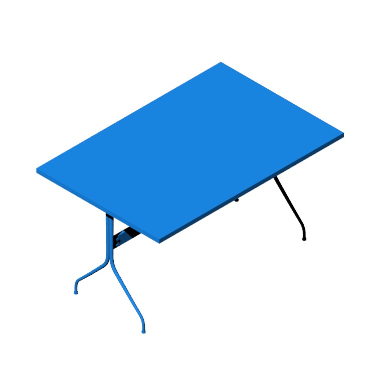 View of the Nelson Swag Leg Rectangular Work Table in 3D available for download
