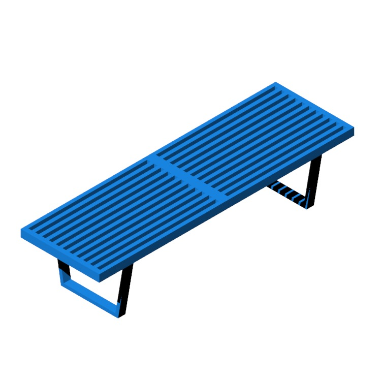 Perspective view of a 3D model of the Nelson Platform Bench