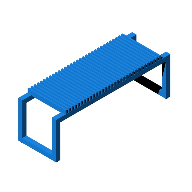 3D model of the Cutter Bench viewed in perspective