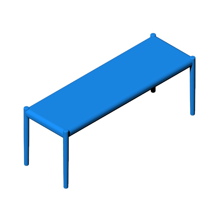 View of the Moller Model 63A Bench in 3D available for download