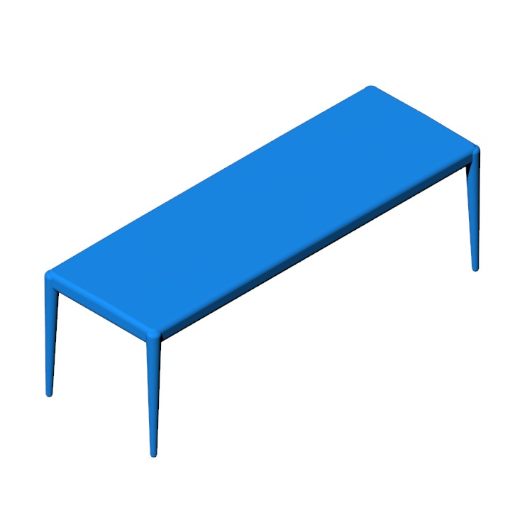 3D model of the Vella Bench viewed in perspective