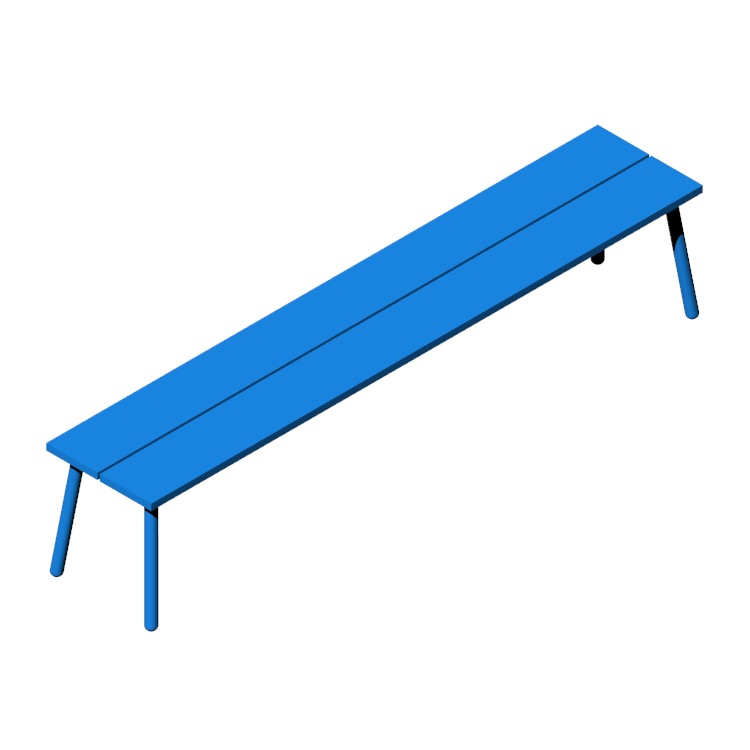 View of the Run 4-Seat Bench in 3D available for download