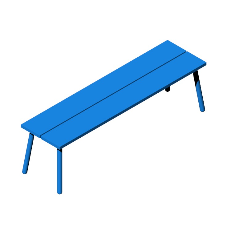 3D model of the Run 3-Seat Bench viewed in perspective