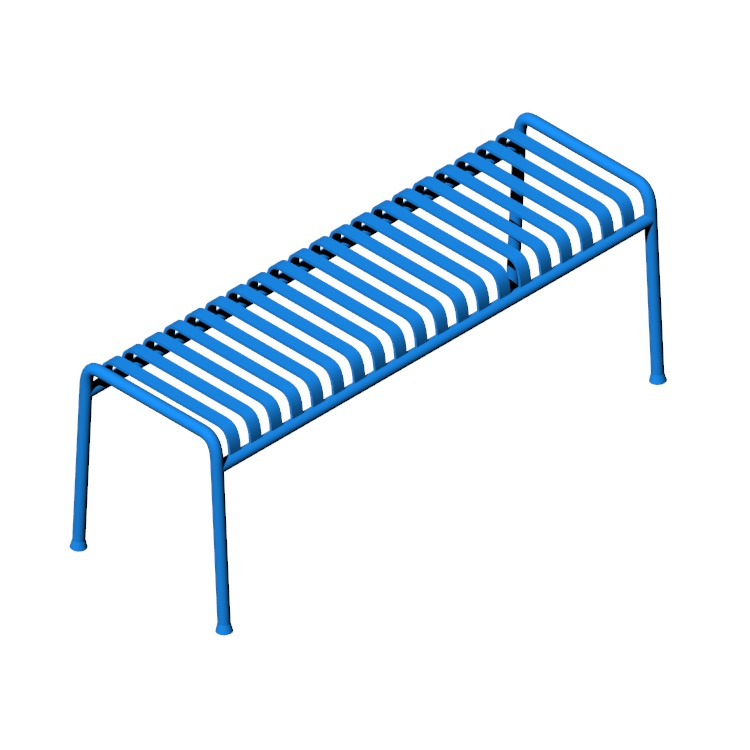 View of the Palissade Bench in 3D available for download