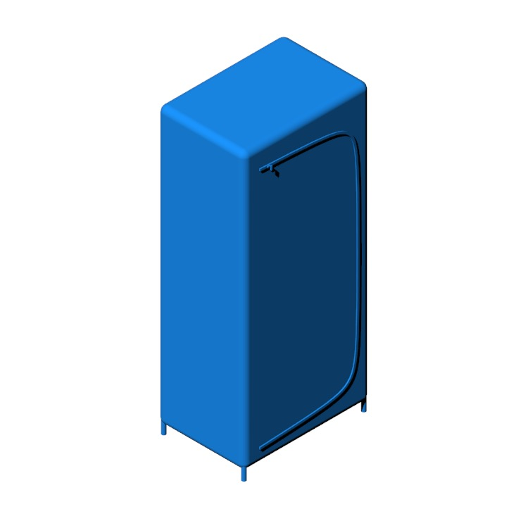 3D model of the IKEA Breim Wardrobe viewed in perspective