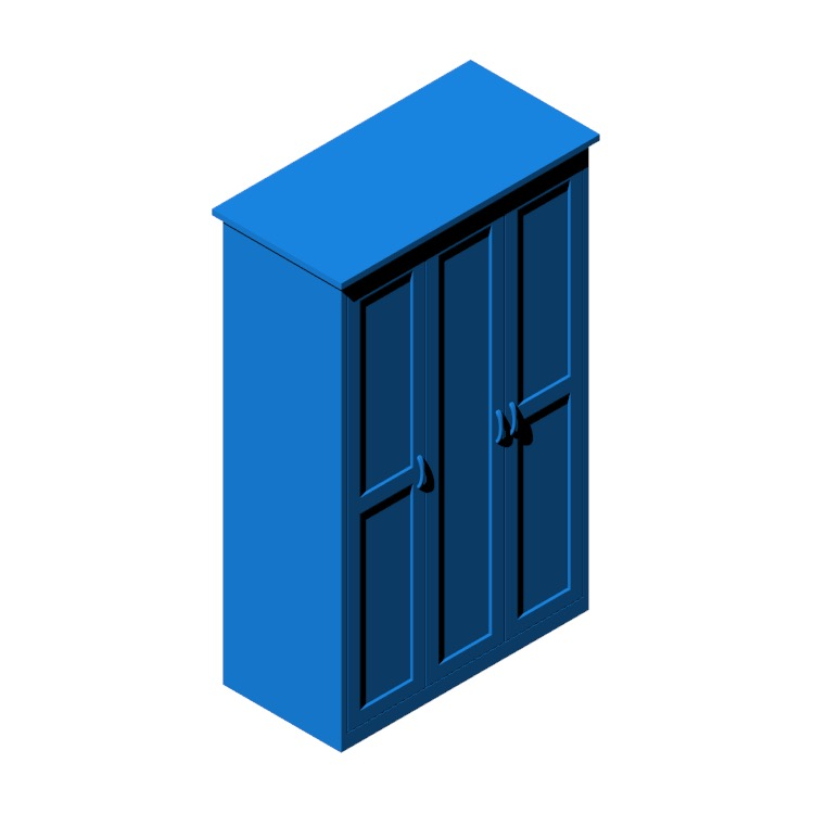 3D model of the IKEA Songesand Wardrobe viewed in perspective