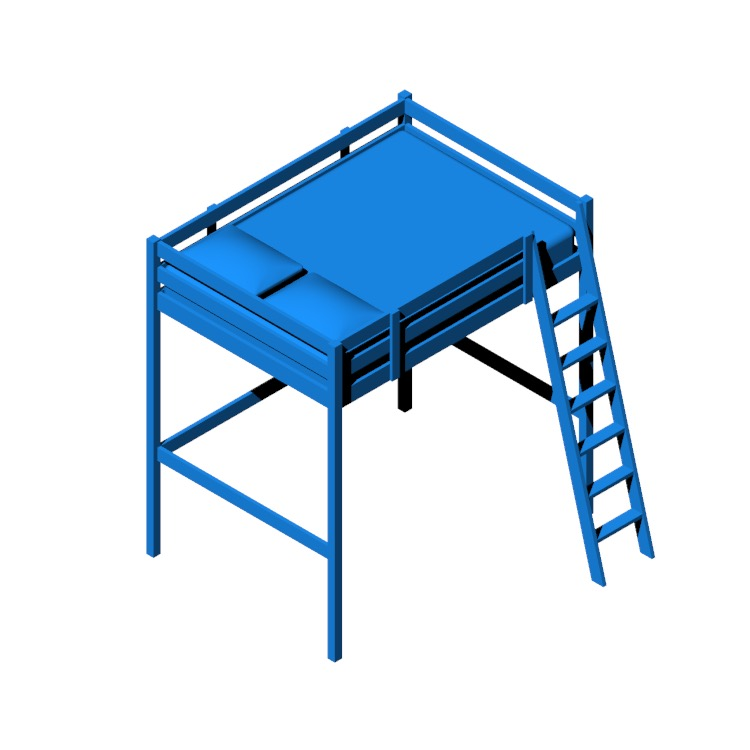 View of the IKEA Storå Loft Bed in 3D available for download