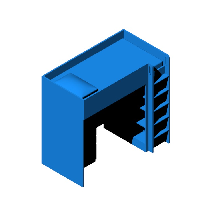 3D model of the IKEA Stuva Loft Bed viewed in perspective