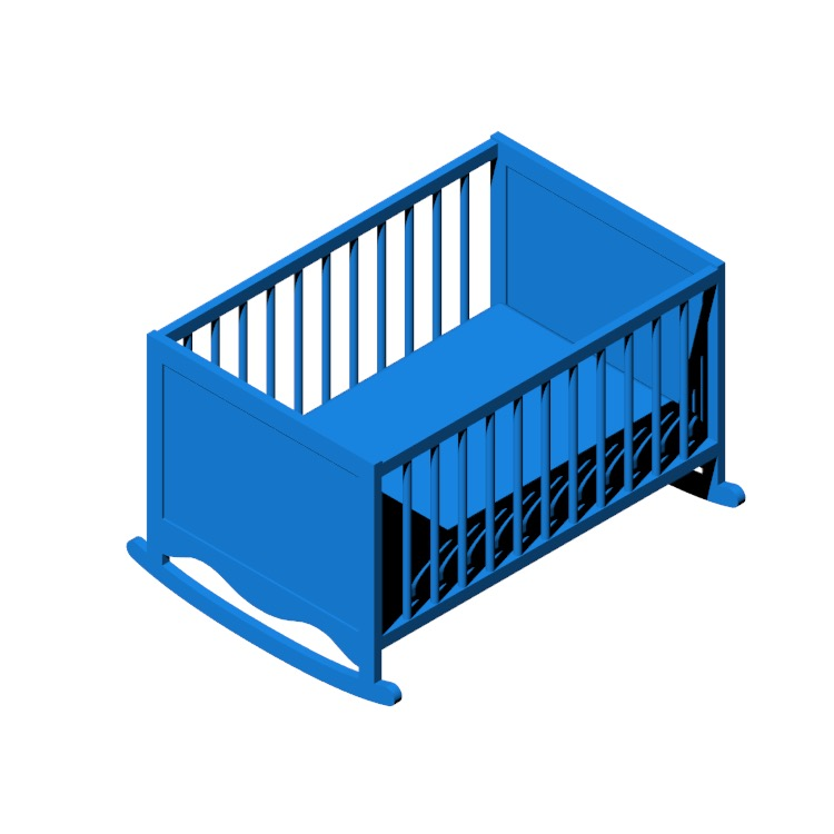 Perspective view of a 3D model of the IKEA Solgul Cradle