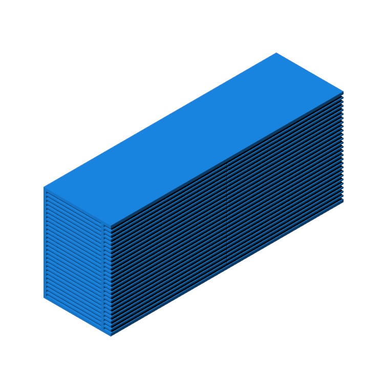 3D model of the Line Wide Dresser viewed in perspective