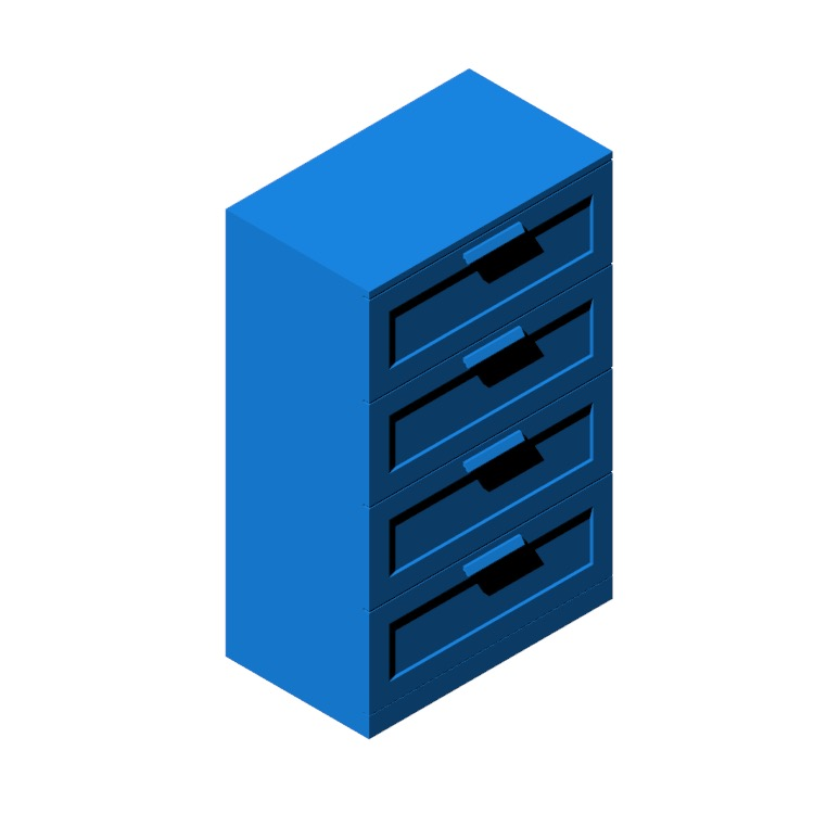 View of the IKEA Brimnes 4-Drawer Dresser in 3D available for download