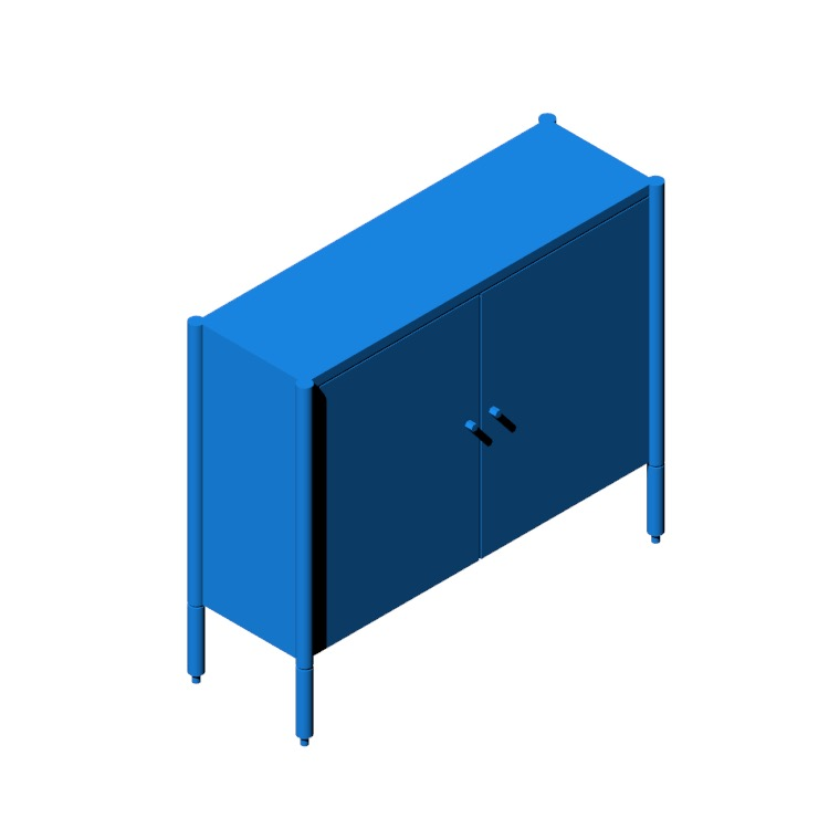 3D model of the Morrison Console viewed in perspective