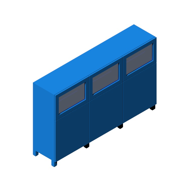 View of the IKEA Bestå Storage Combination (6 Door, Glass) in 3D available for download