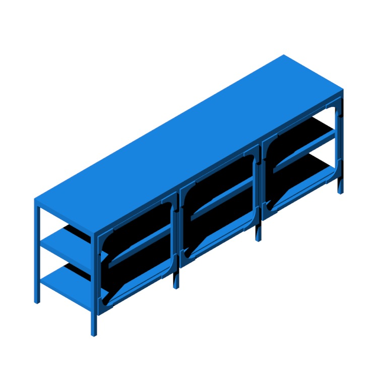 View of the IKEA Fjällbo TV Unit in 3D available for download