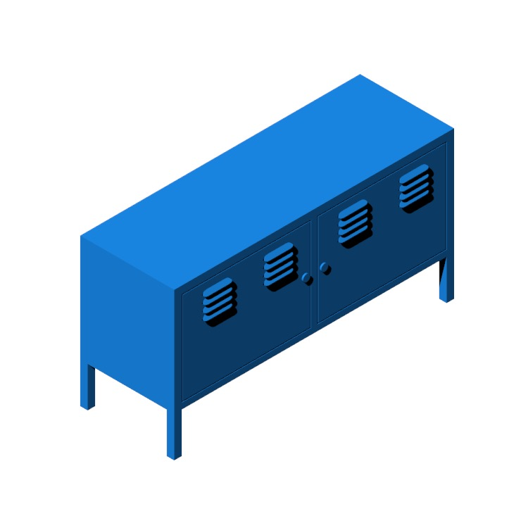 Perspective view of a 3D model of the IKEA PS Cabinet