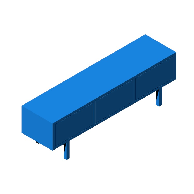 3D model of the IKEA Stockholm TV Unit viewed in perspective
