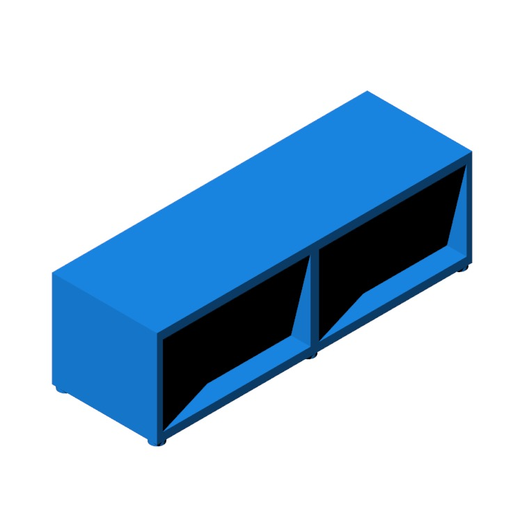 View of the IKEA Bestå TV Unit - 2 Bay - Low in 3D available for download