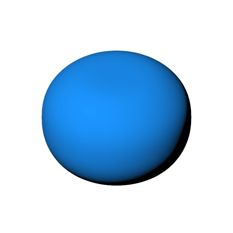 Perspective view of a 3D model of the Spherical Pouf