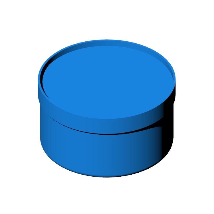 3D model of the Drum Pouf Wide viewed in perspective