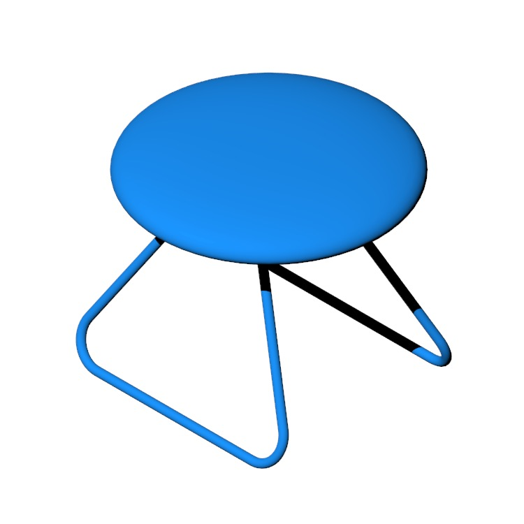 View of the Dennie Footstool in 3D available for download