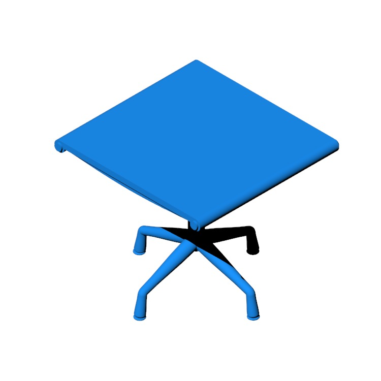 View of the Eames Aluminum Group Ottoman in 3D available for download