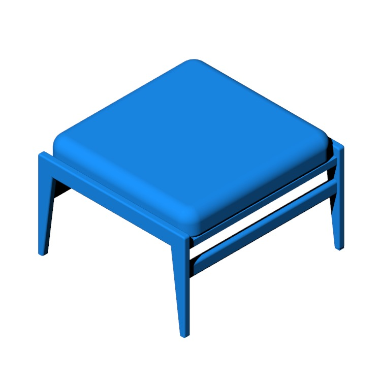 View of the Jens Ottoman in 3D available for download