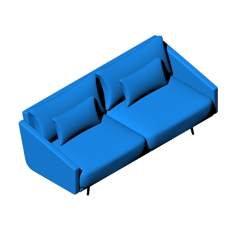 View of the Costura Sofa in 3D available for download