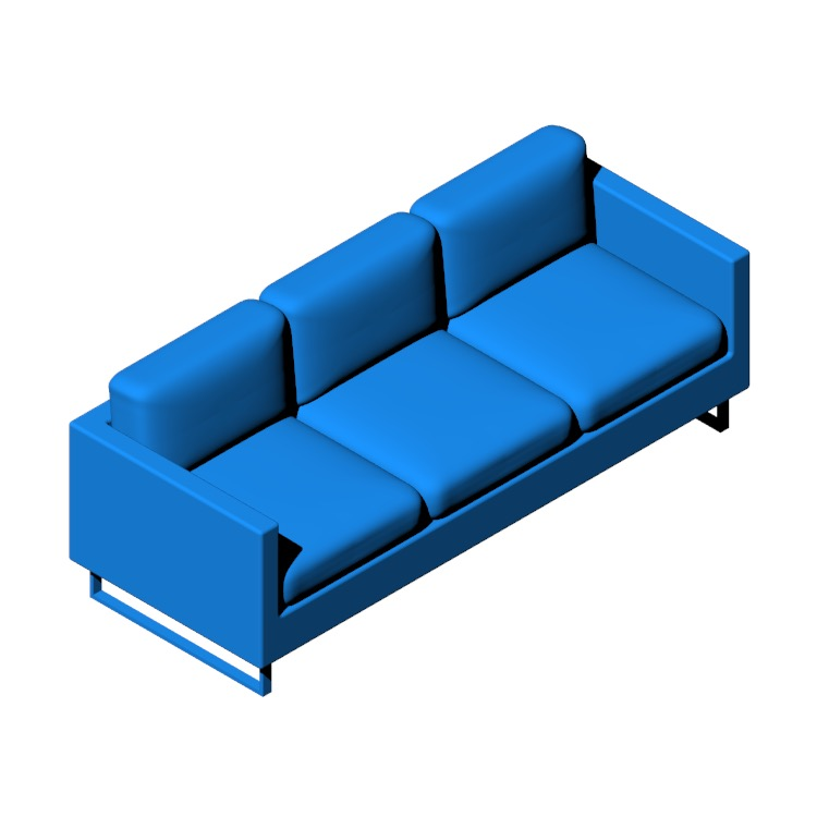View of the Goodland Sofa in 3D available for download