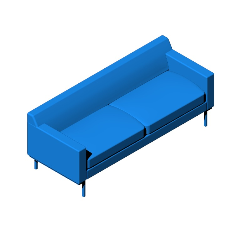 3D model of the Theatre Sofa viewed in perspective