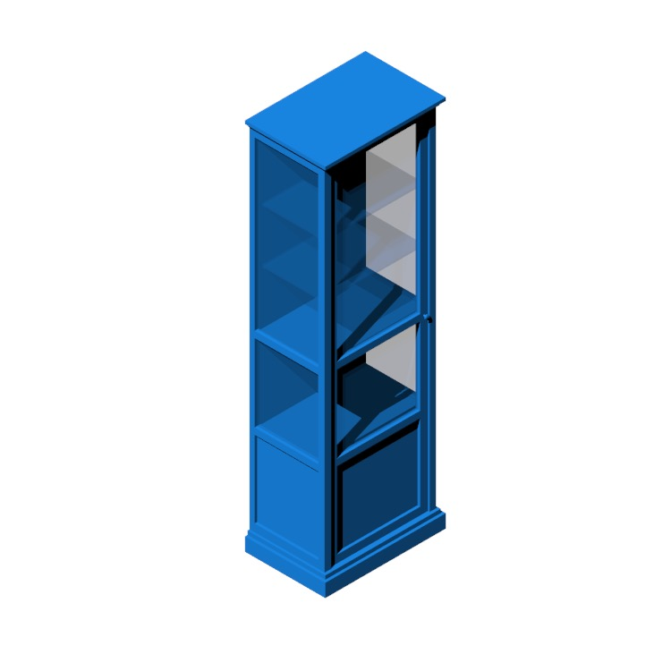 View of the IKEA Malsjö Glass Door Cabinet - Tall in 3D available for download