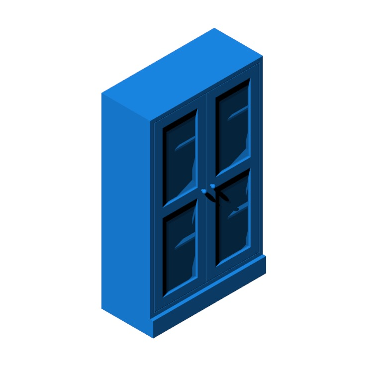 3D model of the IKEA Havsta Glass Door Cabinet viewed in perspective