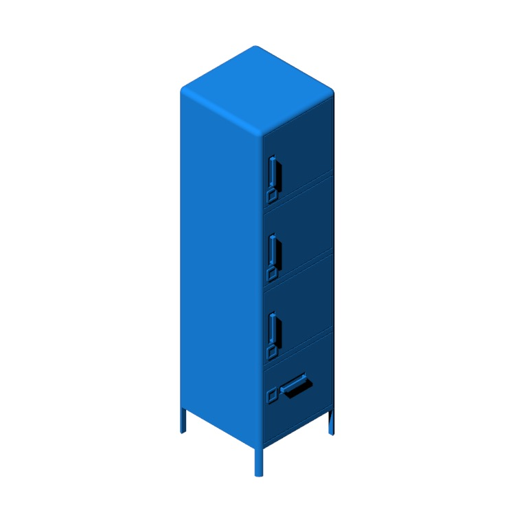 View of the IKEA Idåsen High Cabinet in 3D available for download